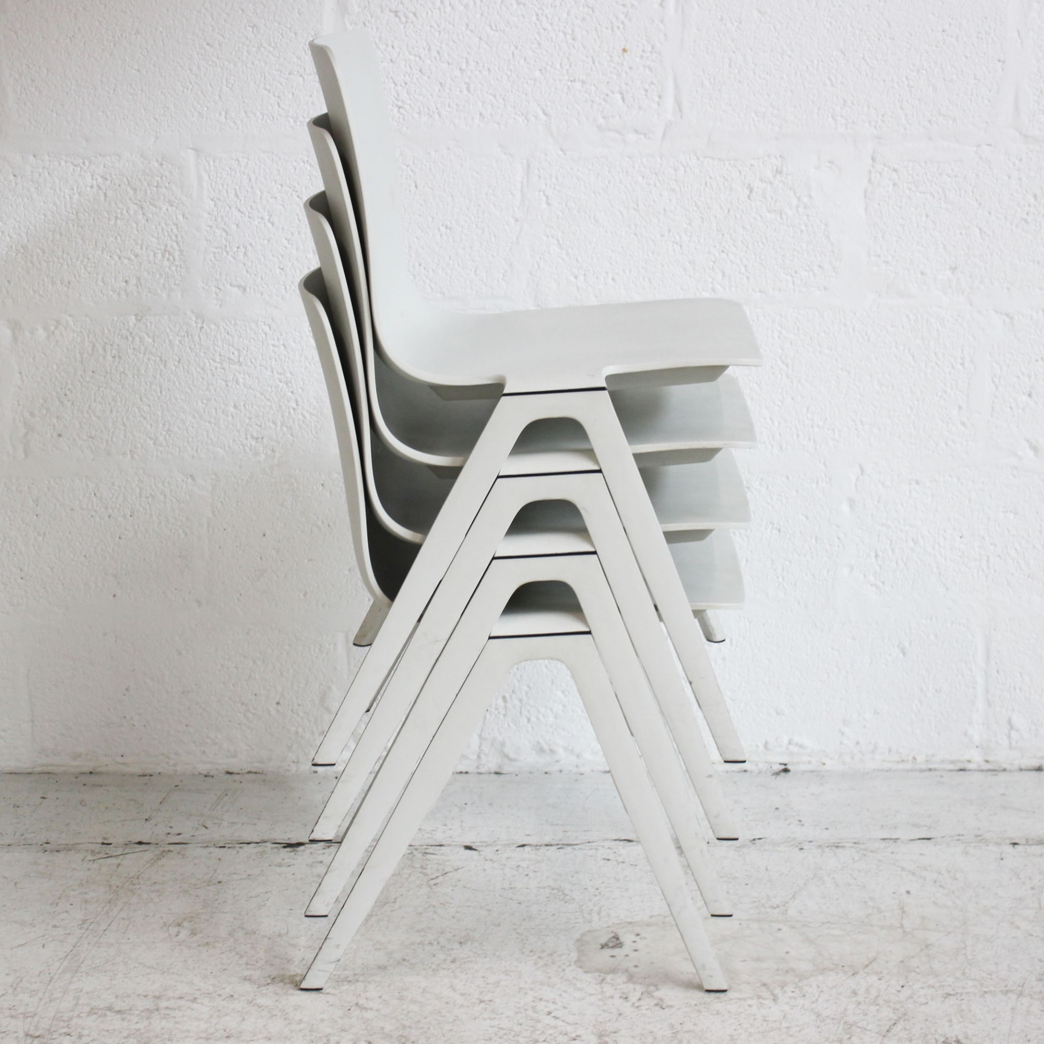 Brunner A Chair - White | White Stacking Chair | White ...
